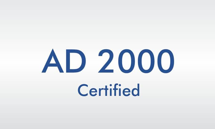AD2000 certified